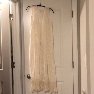 Other - Lace off white swim cover up